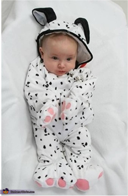 DIY Dalmatian Costume Baby  Baby Dalmatian Halloween Costume