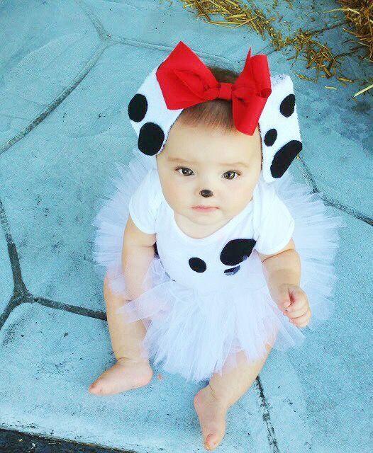 DIY Dalmatian Costume Baby  BUSHEL PECK Dalmatian Halloween costume tutorial With