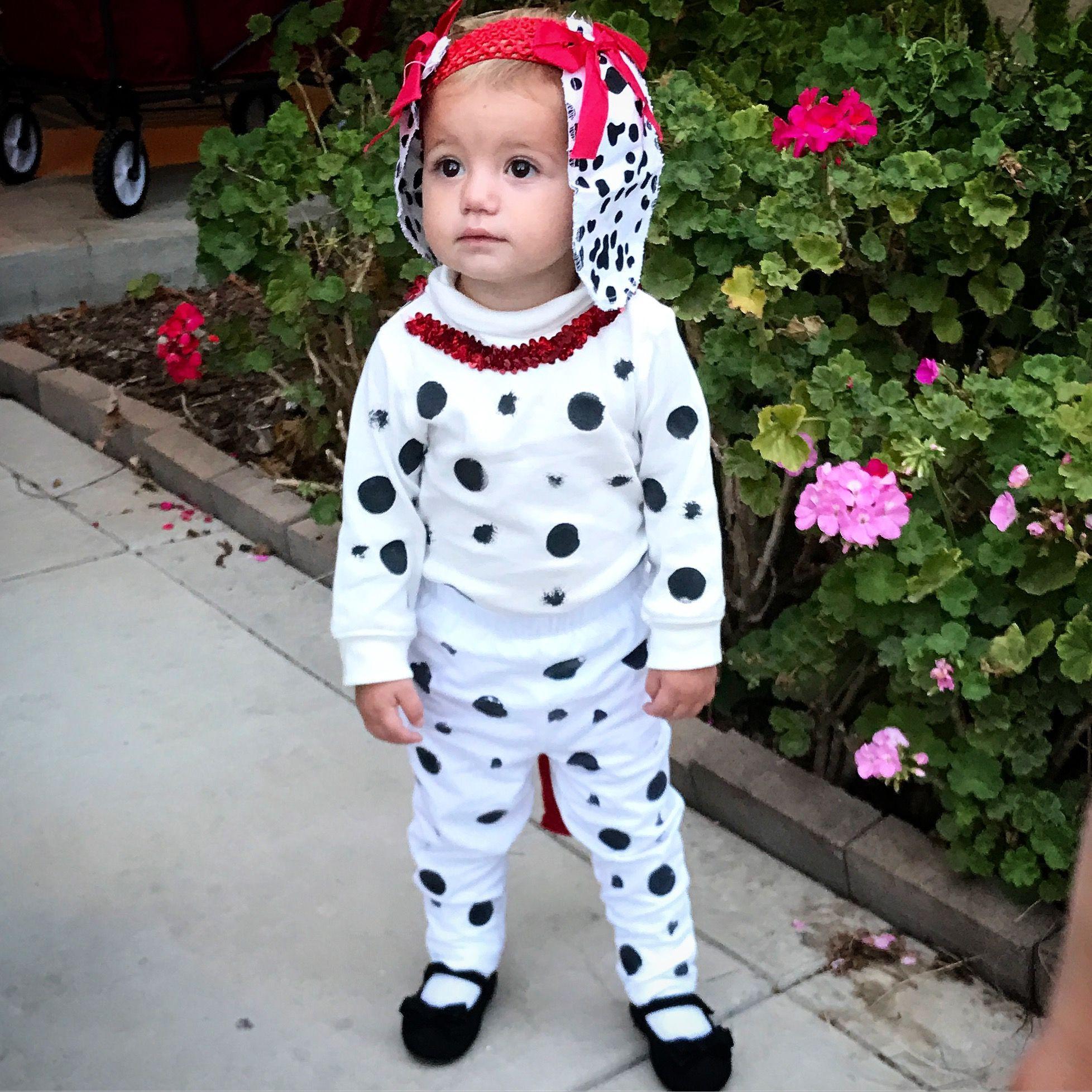 DIY Dalmatian Costume Baby  DIY 101 Dalmatian costume toddler