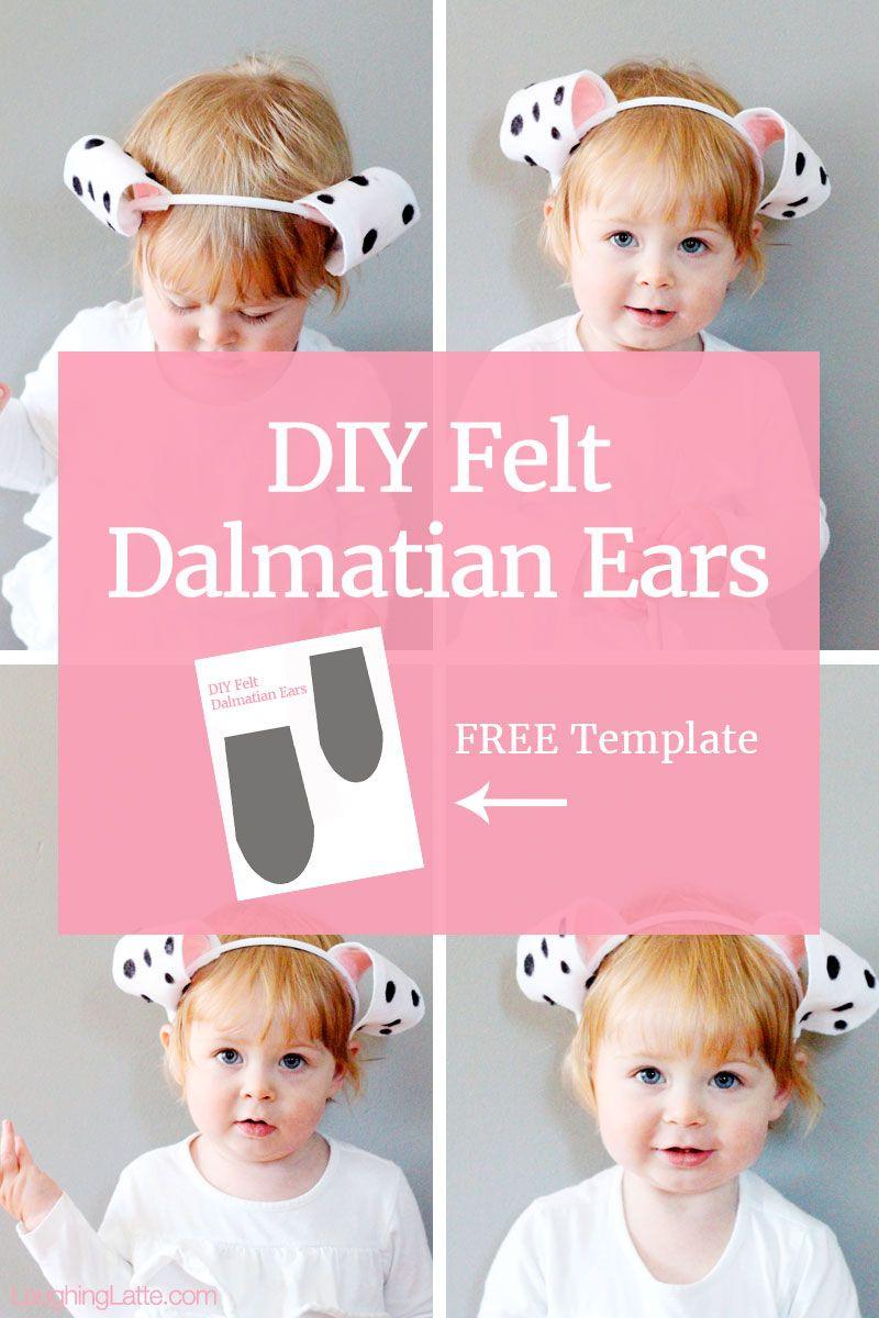 DIY Dalmatian Costume Baby  DIY Felt Dalmatian Ears The perfect simple craft with