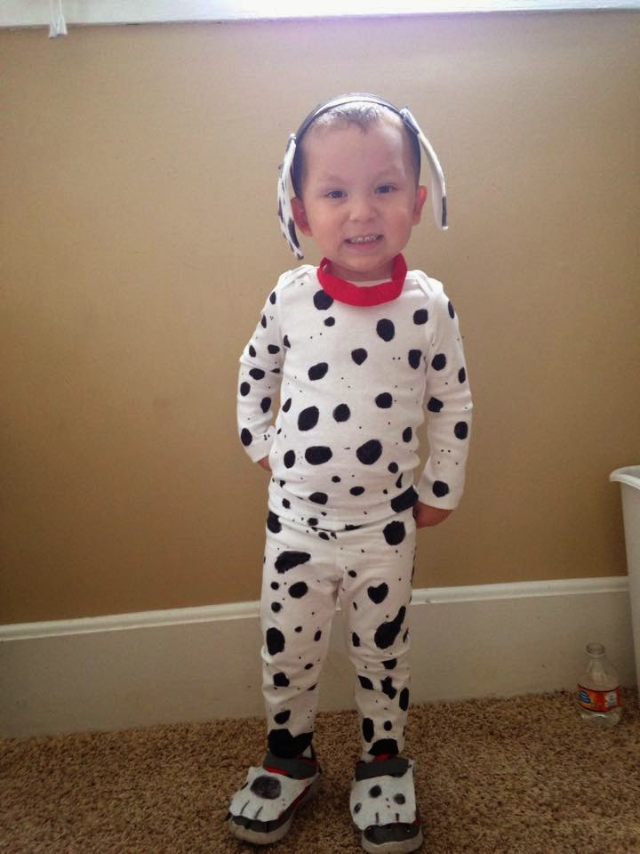 DIY Dalmatian Costume Baby  My life in a nutshell DIY Dalmation and Firefighter