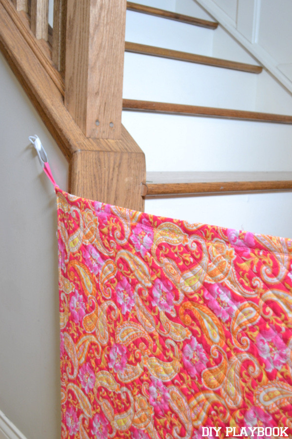 Diy Fabric Baby Gate  10 DIY Baby Gates for Stairs