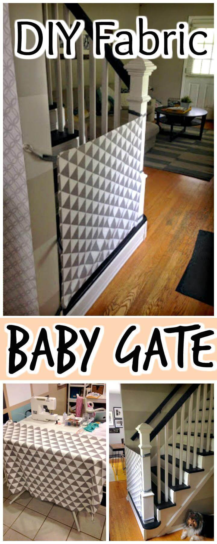 Diy Fabric Baby Gate  30 Best DIY Baby Gate Tutorials on Cheap Bud