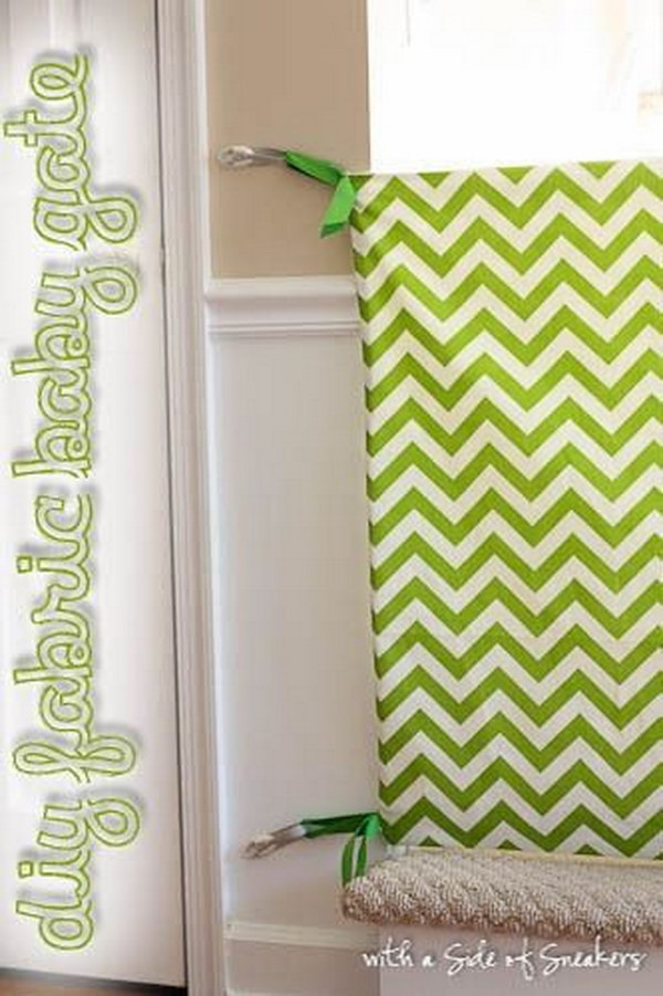 Diy Fabric Baby Gate  60 Simple & Cute Things Gifts You Can DIY For A Baby