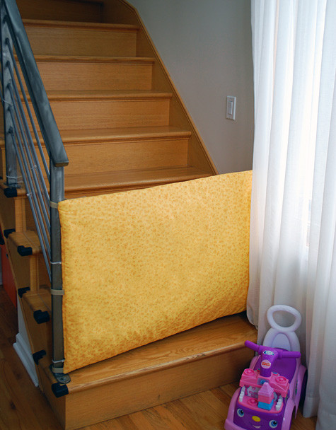 Diy Fabric Baby Gate  DIY Fabric Safety Gate for Baby and Toddlers Merriment