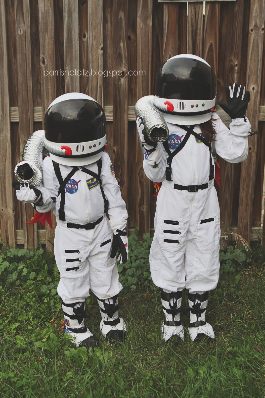 DIY Kids Astronaut Costume  astronaut costumes with candy collecting jetpacks