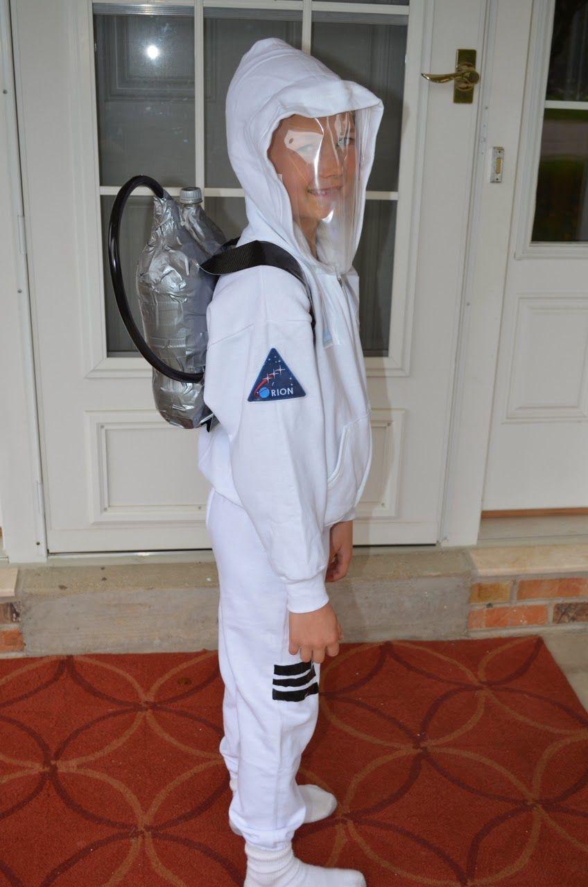 DIY Kids Astronaut Costume  diy no sew astronaut costume Crafts in 2019