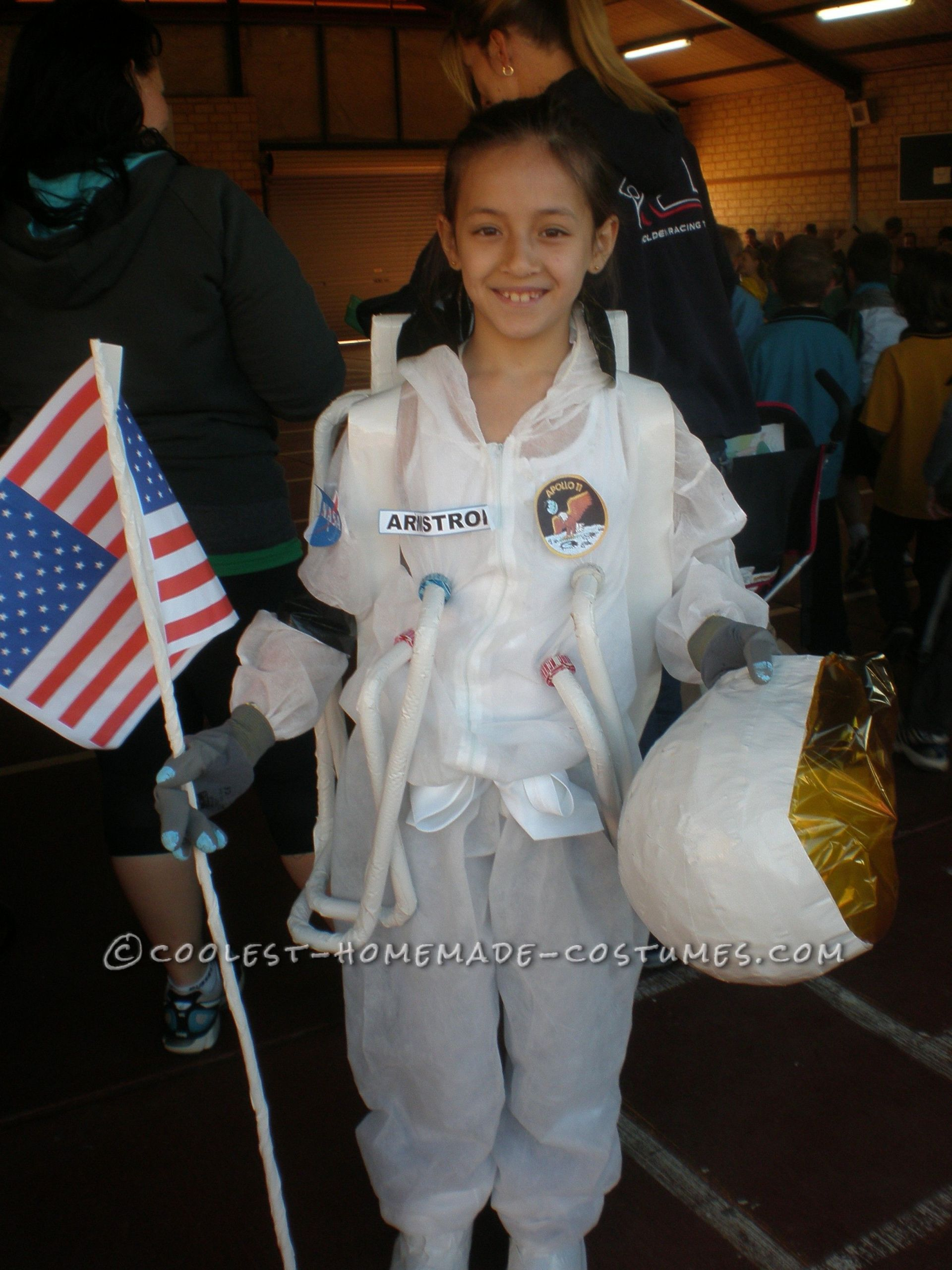 DIY Kids Astronaut Costume  Homemade Astronaut Costume in Honor of Neil Armstrong