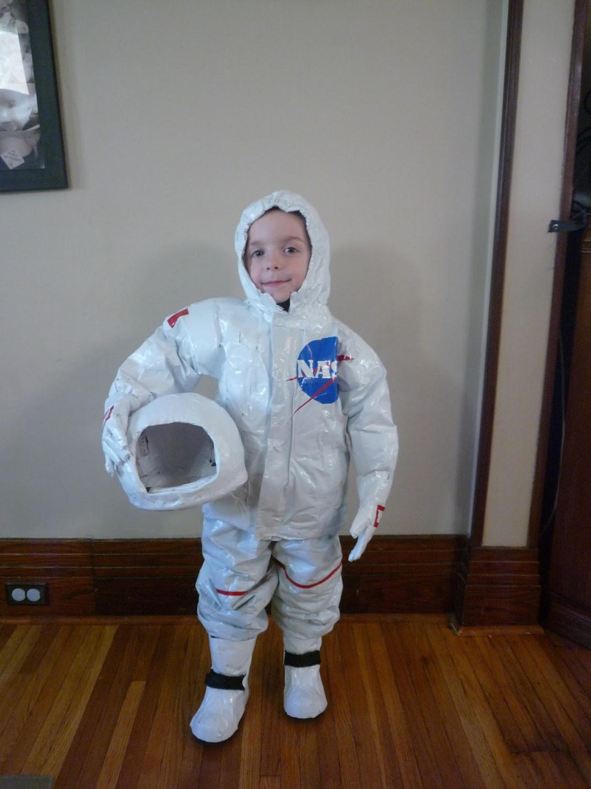 DIY Kids Astronaut Costume  Full Time Frugal DIY childs costume $13 Astronaut