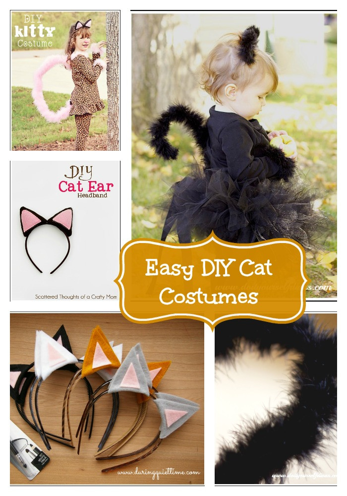 Diy Kids Cat Costume  Crayons and Collars – Life with Kids and Pets Easy DIY Cat