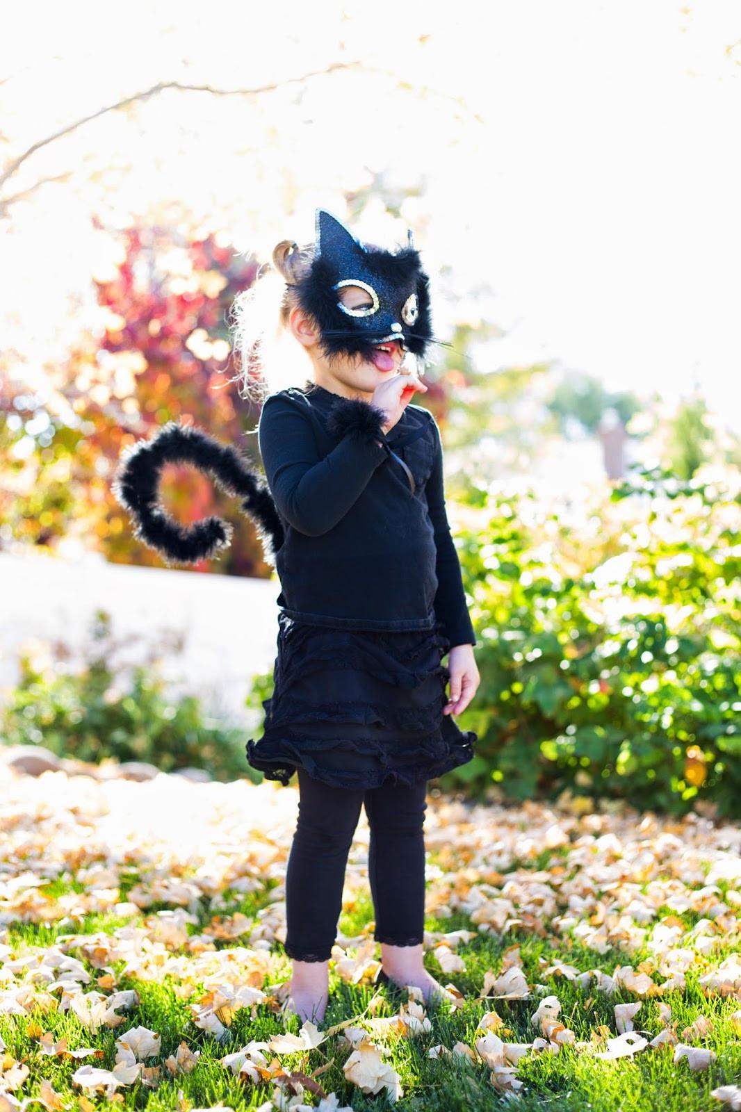 Diy Kids Cat Costume  do it yourself divas Little Girl Cat Costume for Halloween