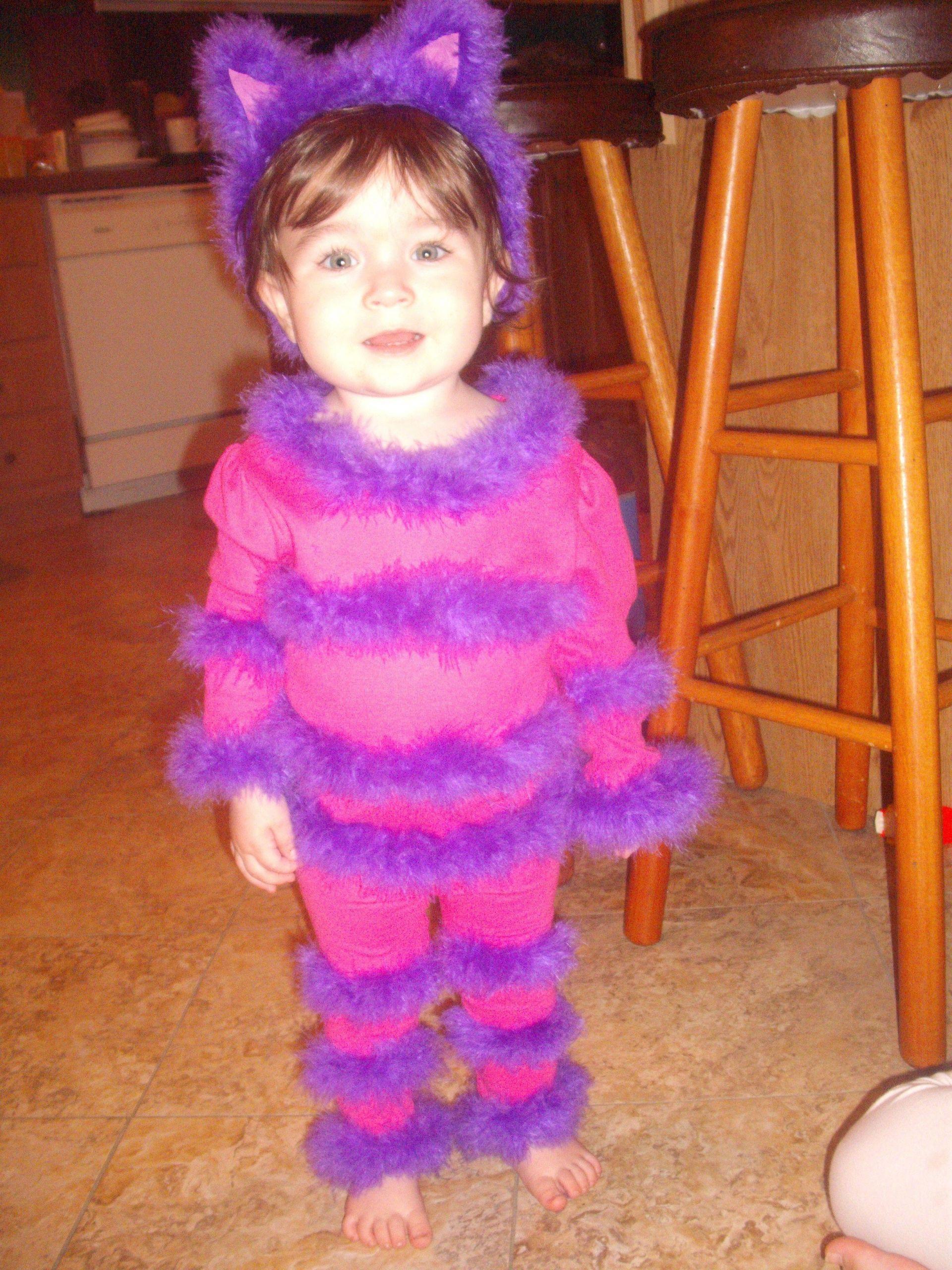 Diy Kids Cat Costume  DIY Children Cheshire Cat Costume pant & shirt set 4 yds