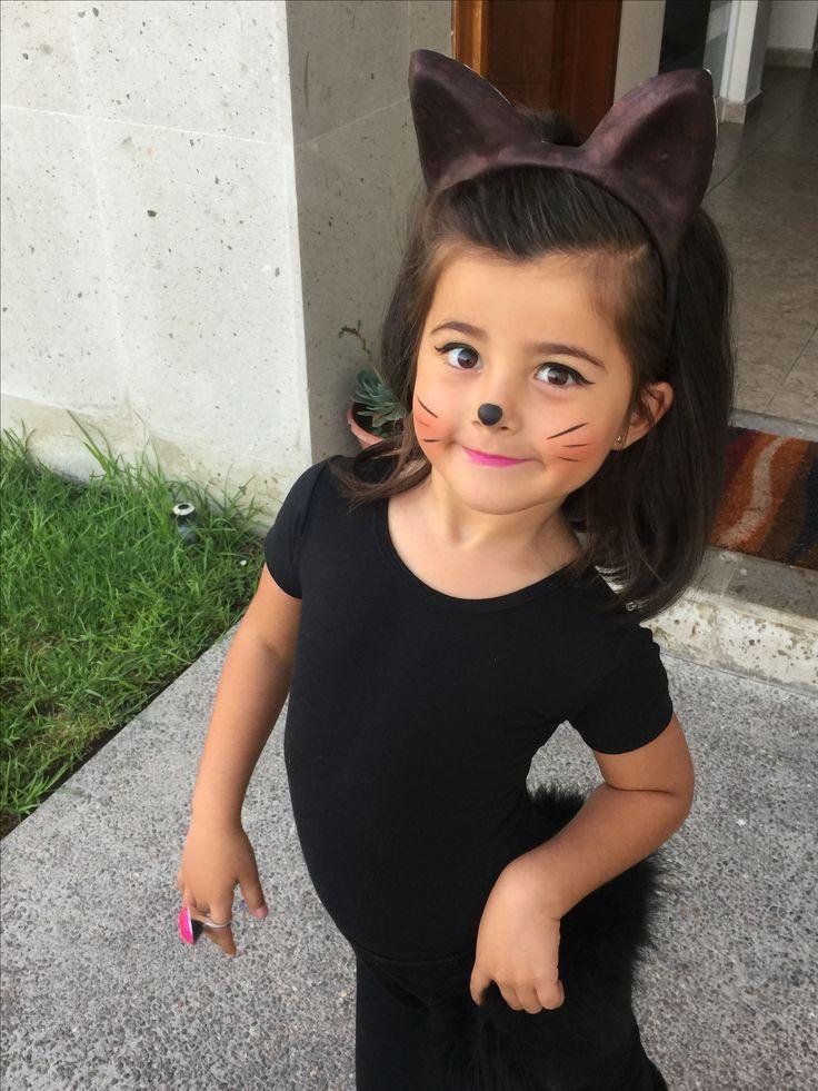 Diy Kids Cat Costume  Diy costume catgirl little girl toddler cat makeup