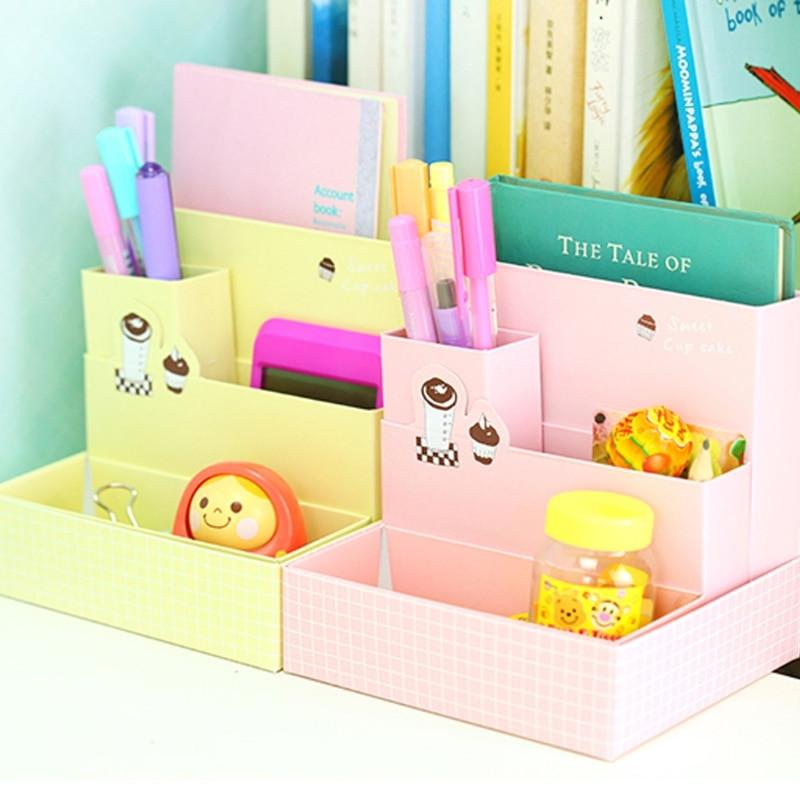 DIY Pencil Box  Paper Board DIY Pencil Case Storage Box Desk Decor