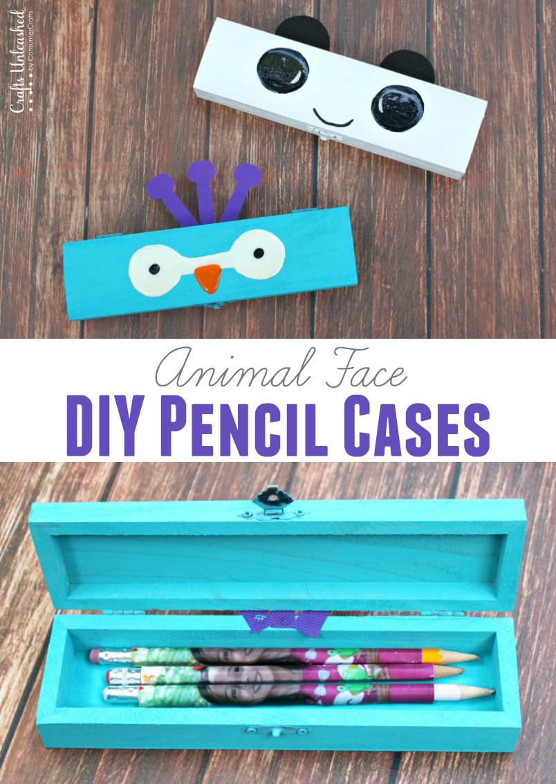 DIY Pencil Box  DIY Pencil Case Craft Animal Faces Crafts Unleashed