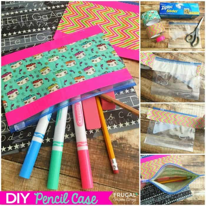 DIY Pencil Box  DIY Pencil Case with a Ziploc and Duct Tape