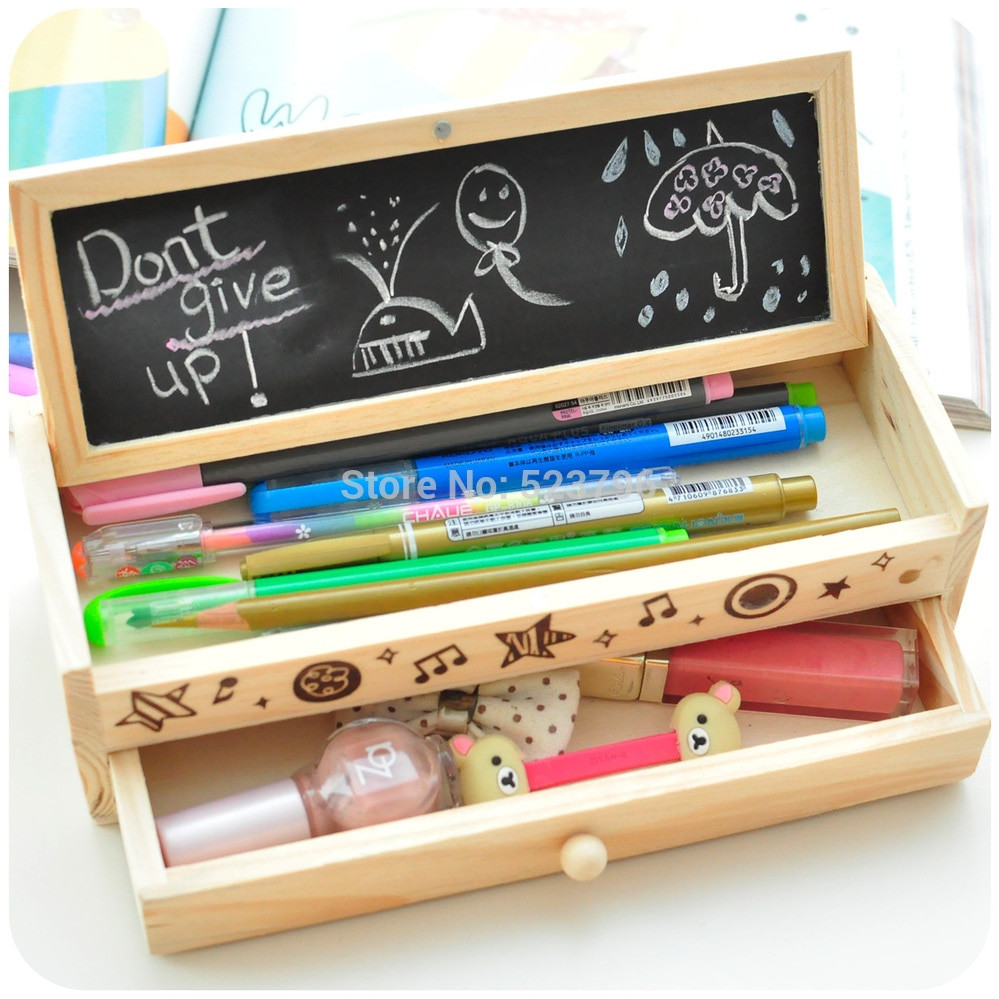 DIY Pencil Box  Free shipping Korea stationery lovely pencil box