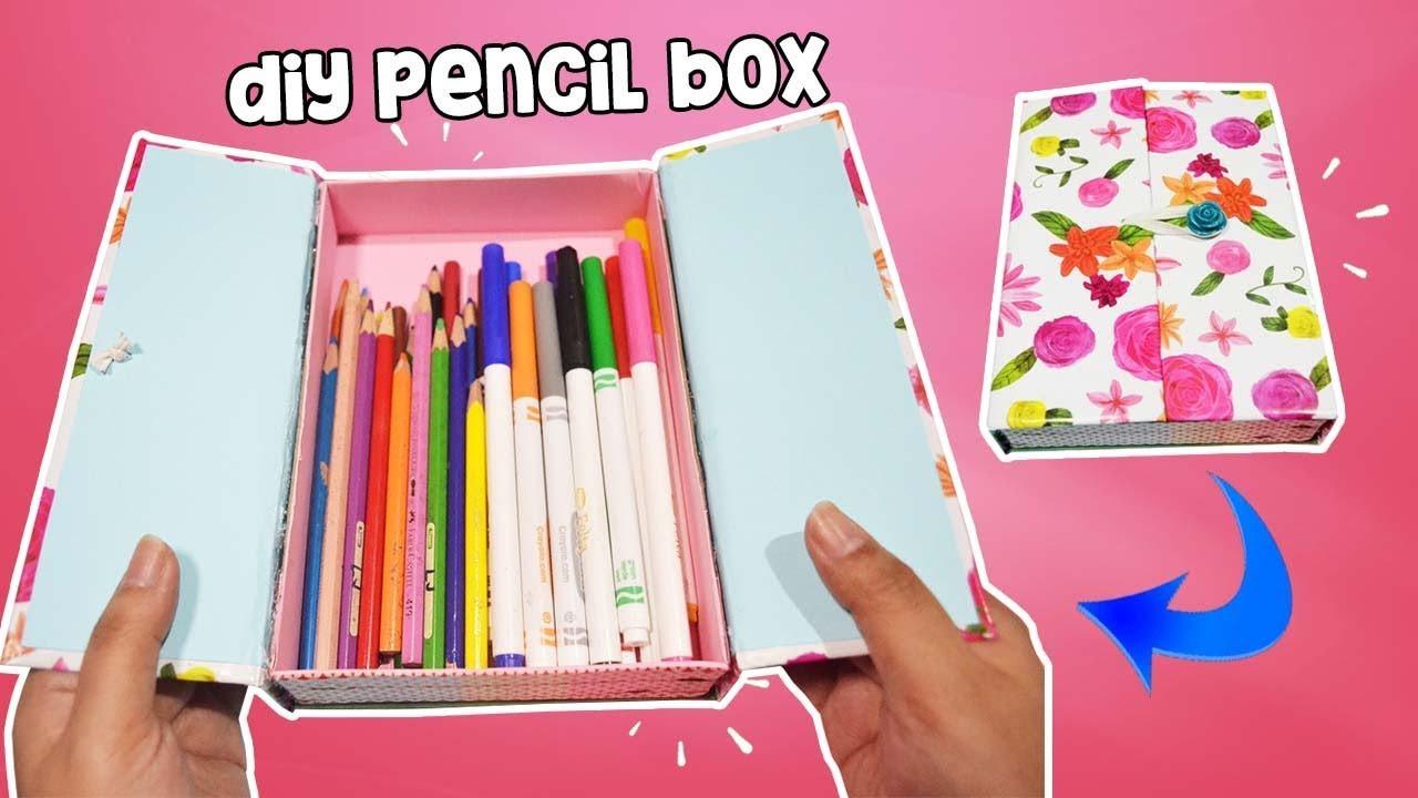 DIY Pencil Box  How To Make Pencil Box Case For Back To School DIY Pencil