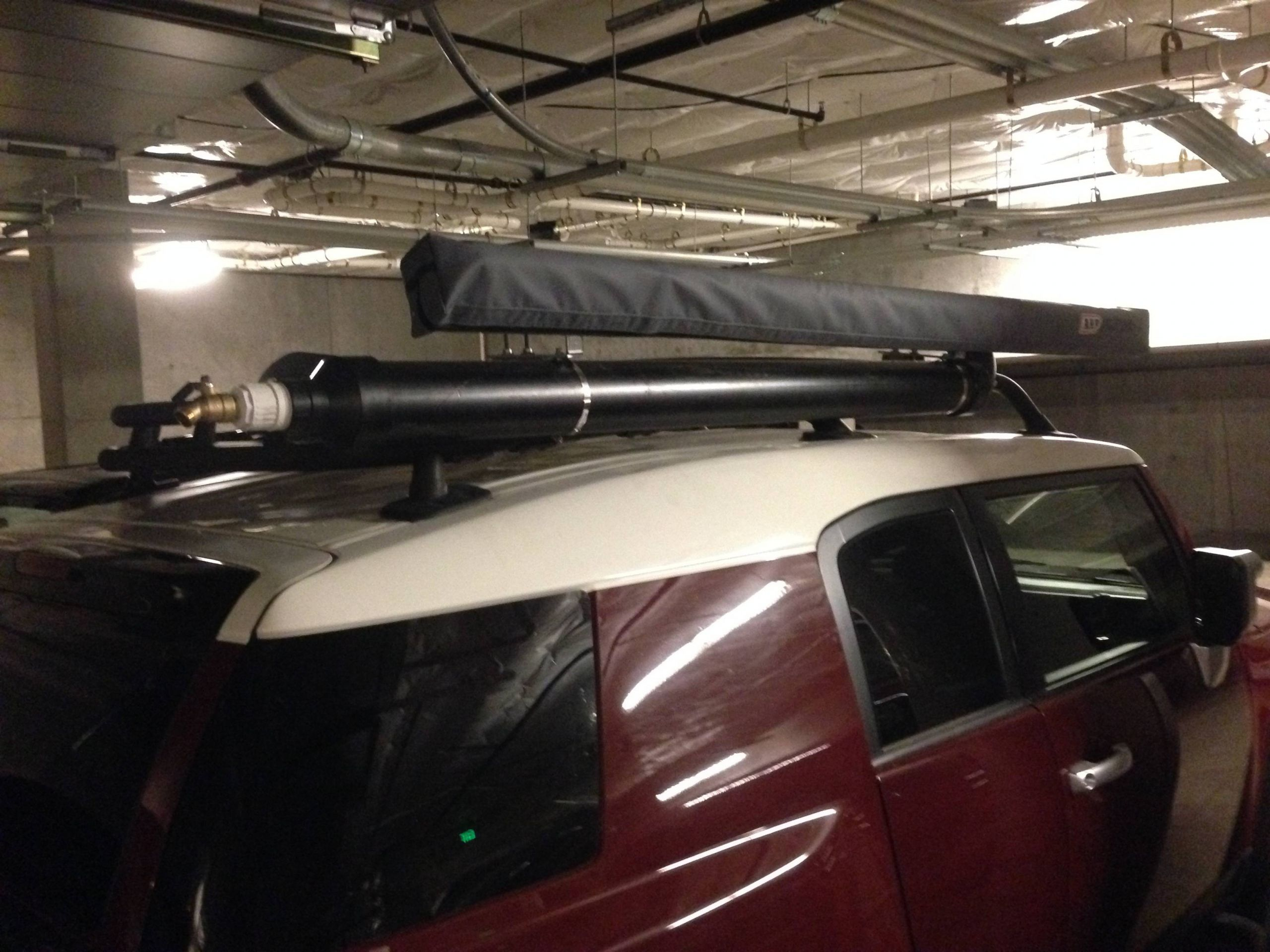 DIY Roof Rack Shower  DIY Roof Rack Shower Bracket System for Awning Toyota