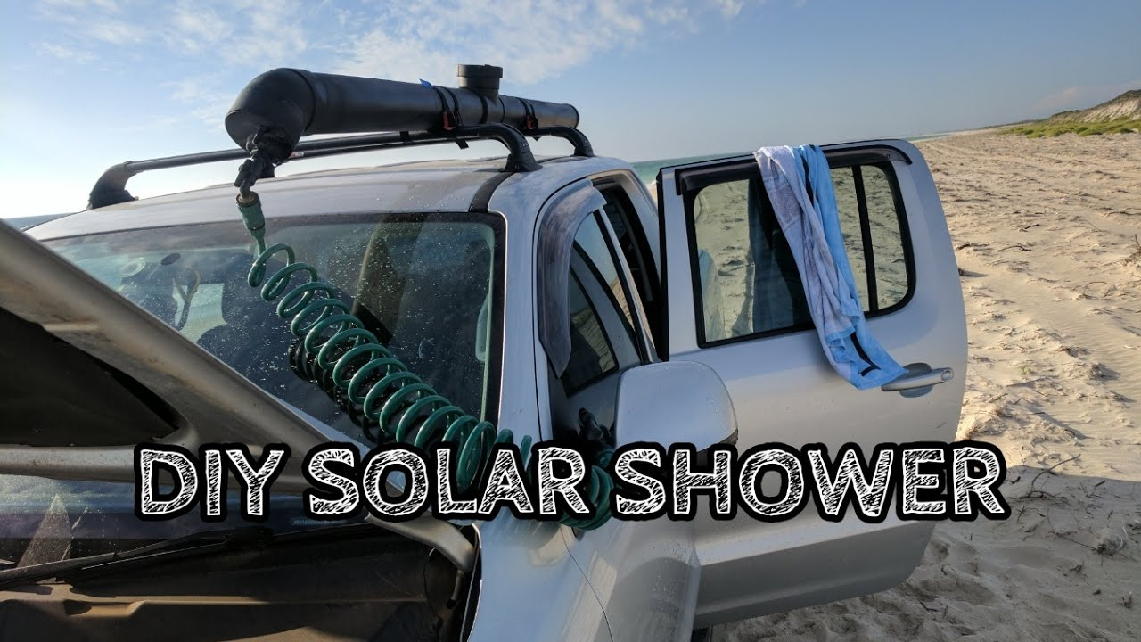 DIY Roof Rack Shower  DIY solar shower build