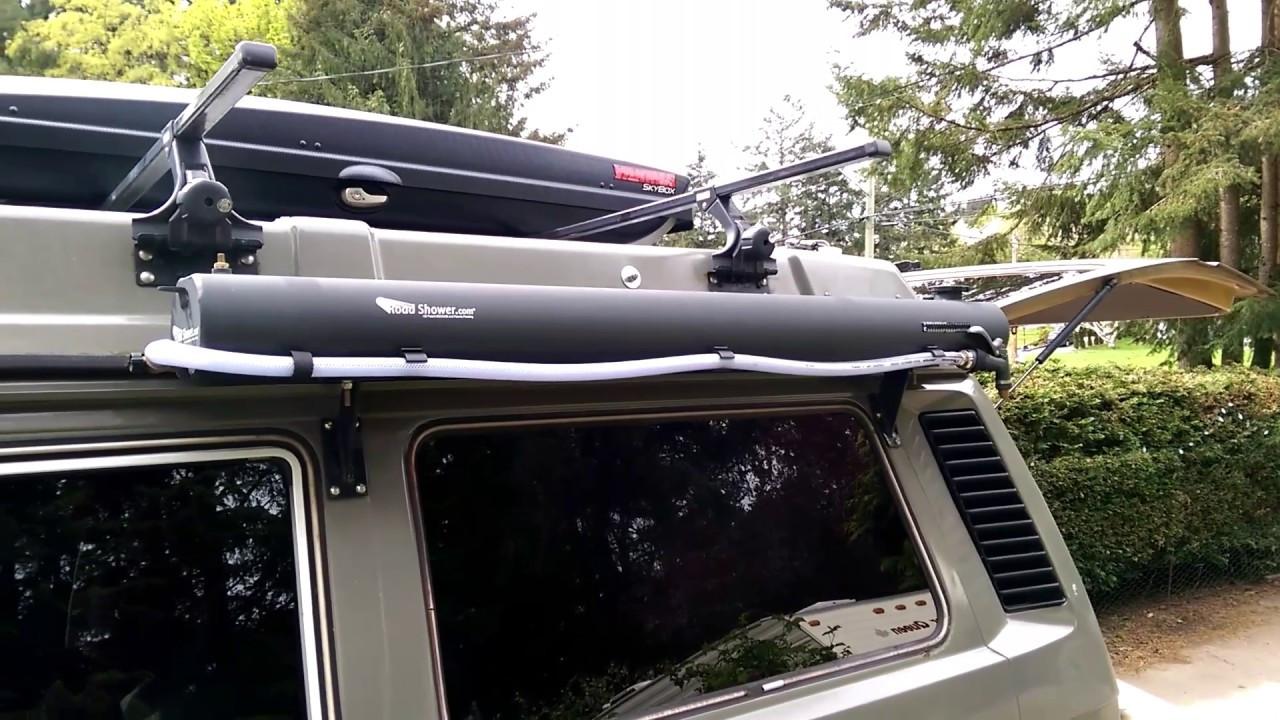DIY Roof Rack Shower  Road shower