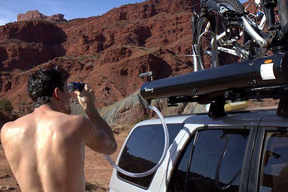 DIY Roof Rack Shower  Road Shower Mounts Roof Racks Delivers Hot Water