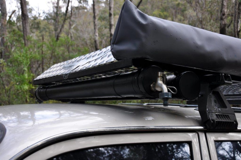 DIY Roof Rack Shower  Solar Shower Bags Do They Actually Work CLUB 4X4