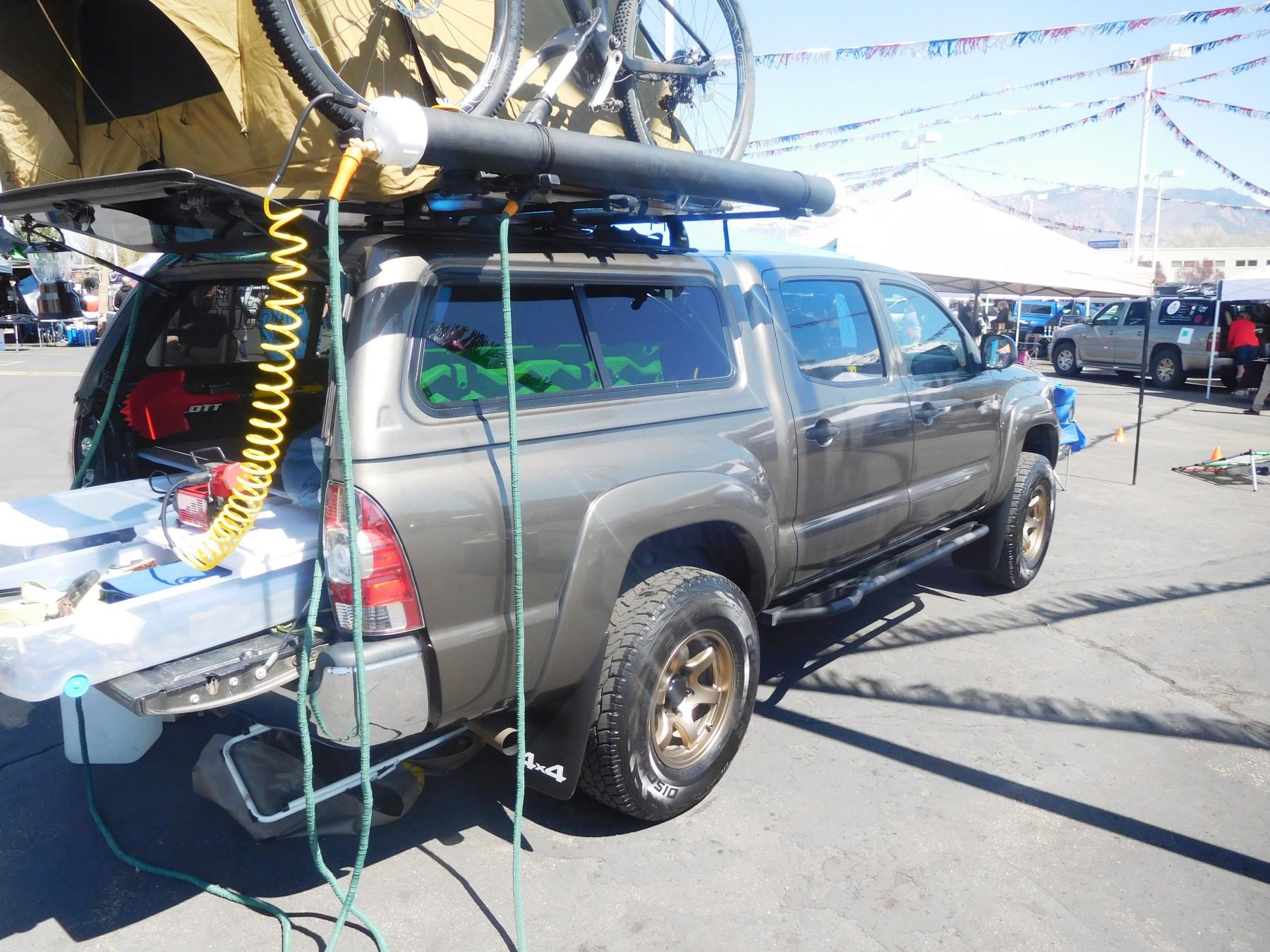 DIY Roof Rack Shower  DIY PVC Rooftop Solar Shower for a Car Van SUV or Truck