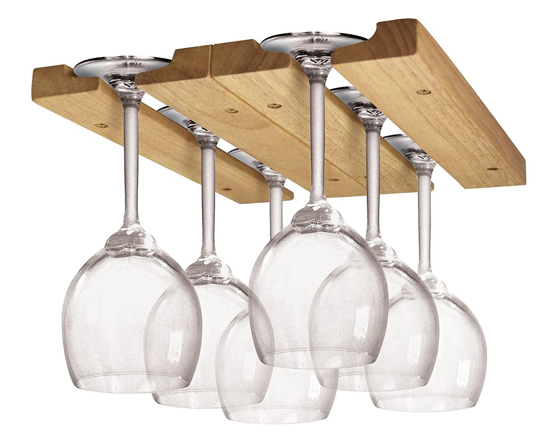 DIY Wine Glass Rack Under Cabinet  Woodwork Overhead Wine Glass Rack Plans PDF Plans