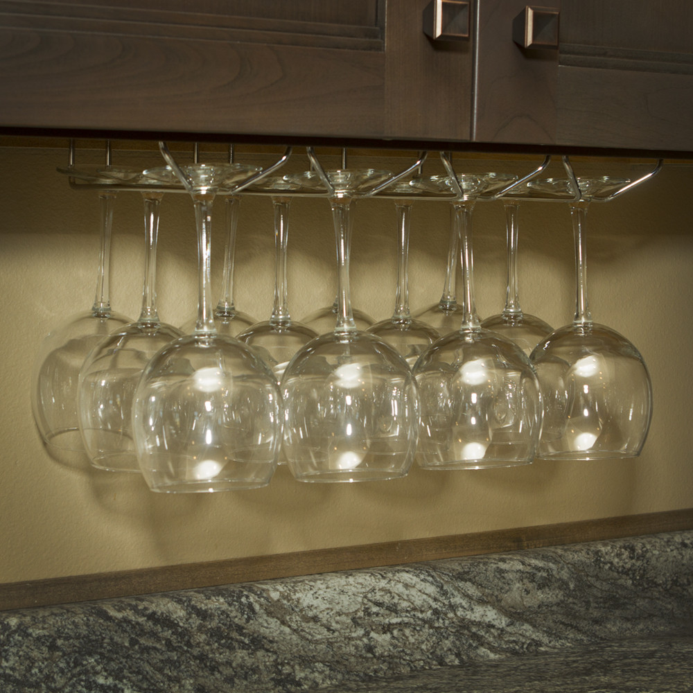 DIY Wine Glass Rack Under Cabinet  Under Cabinet Wine Glass Stemware Holder Rack with