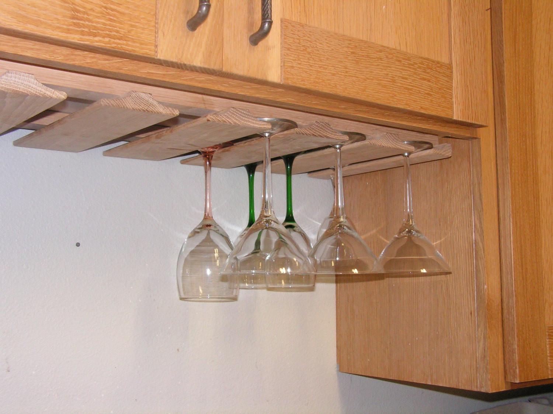 DIY Wine Glass Rack Under Cabinet  Wine Glass Rack Under Cabinet New Oak Stemware Holder