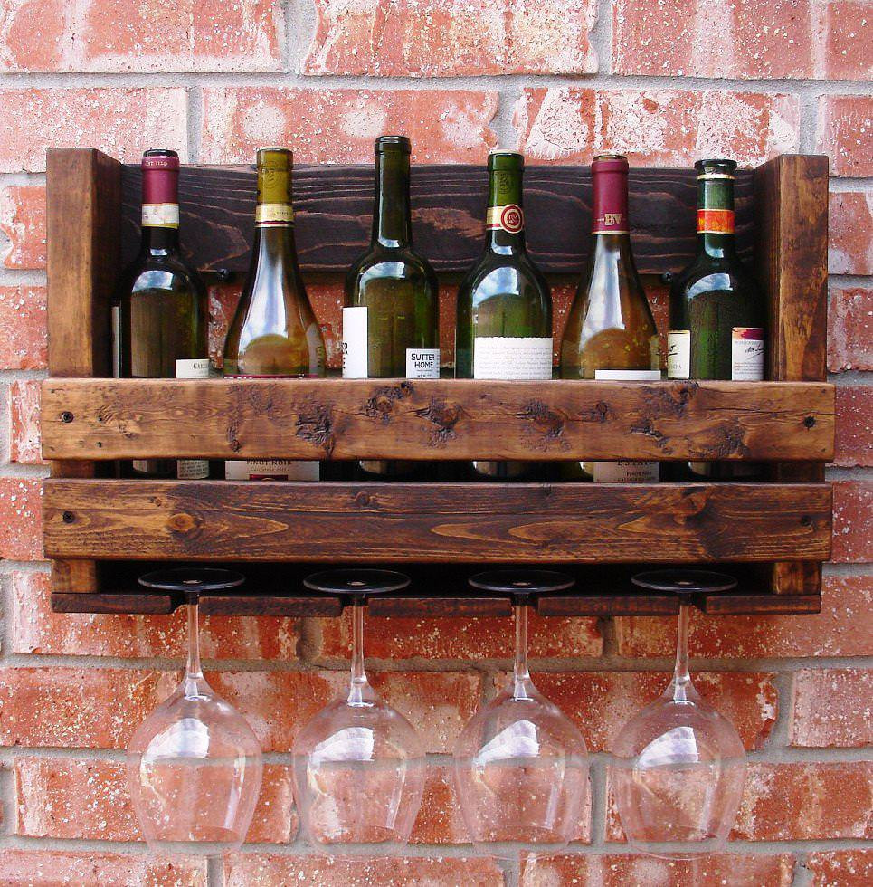 DIY Wine Glass Rack Under Cabinet  31 DIYs that are not Kitschy to Organize Your Kitchen
