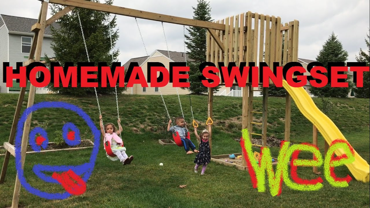 Do It Yourself Backyard Playsets  How To Make A Homemade Swingset In The Backyard Do It
