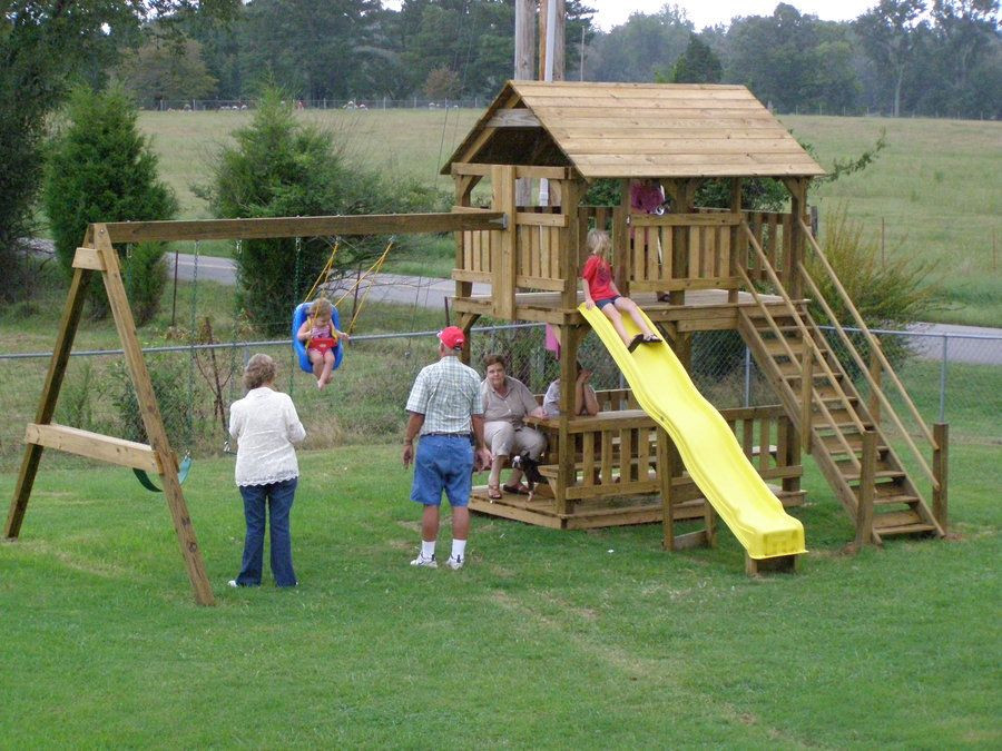 Do It Yourself Backyard Playsets  Simple Wooden Swing Set Incredible Classic A Frame Do It