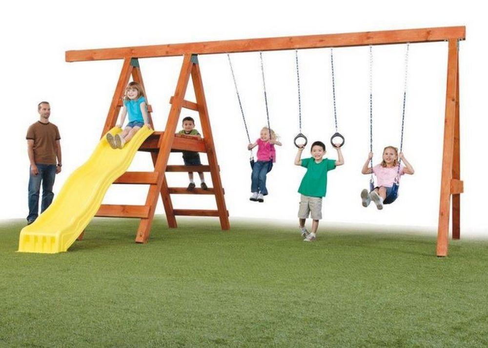 Do It Yourself Backyard Playsets  Do It Yourself Custom Play Set Kit Swings Slide DIY