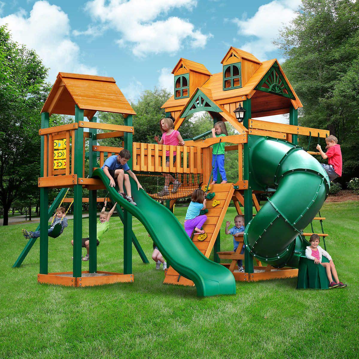 Do It Yourself Backyard Playsets  Gorilla Playsets Wilderness Gym Playset Do It Yourself