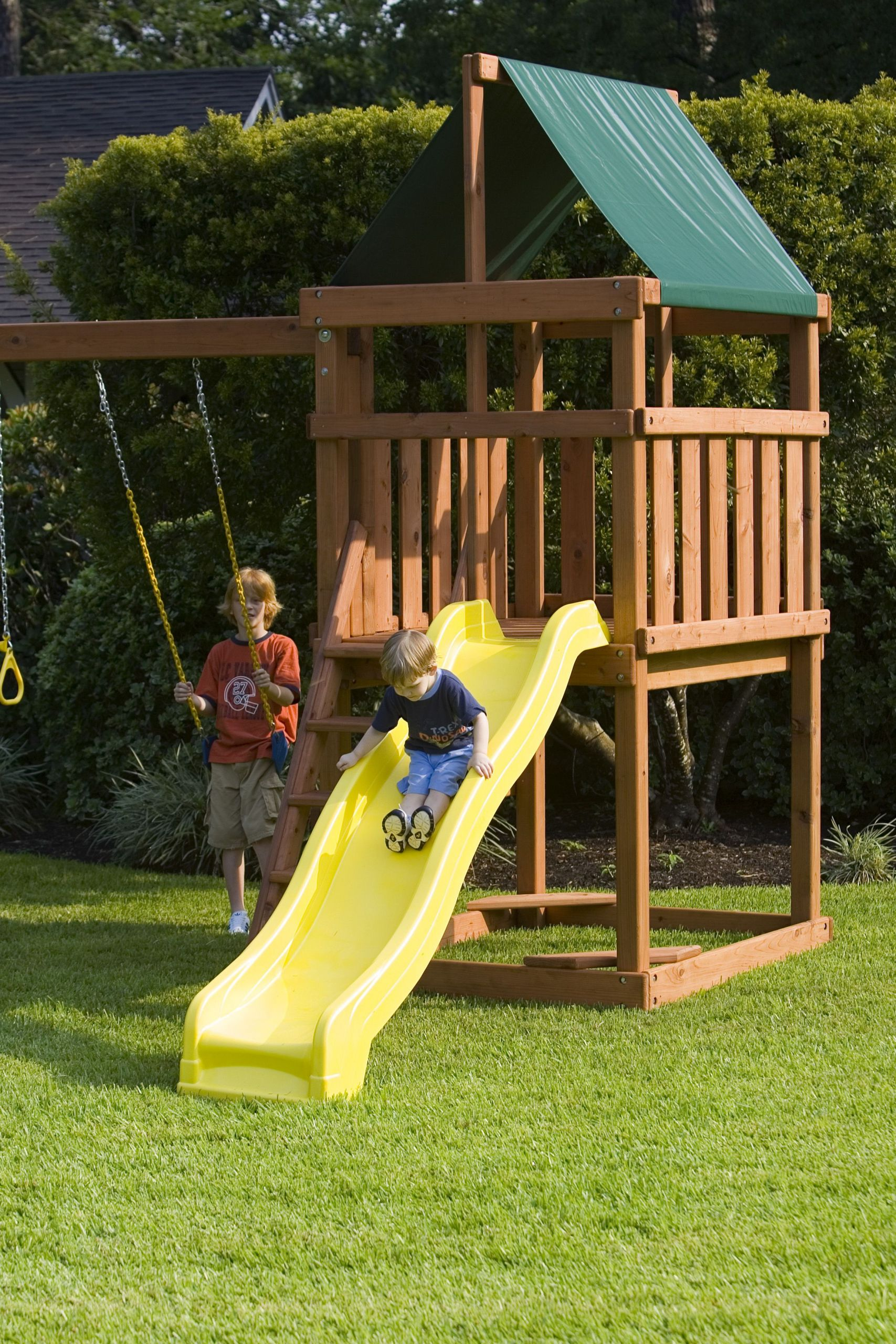 Do It Yourself Backyard Playsets  Endeavor Playset DIY Fort and Swingset Plans in 2020