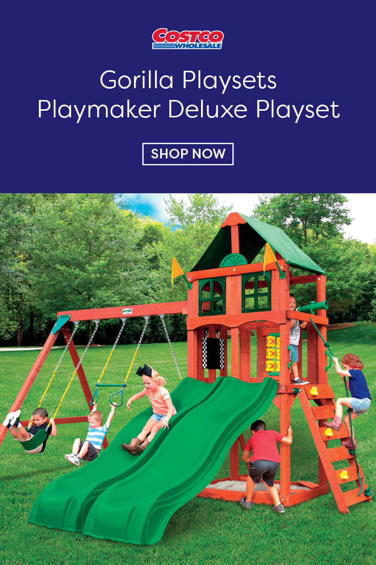 Do It Yourself Backyard Playsets  Gorilla Playsets Playmaker Deluxe Playset Do It Yourself