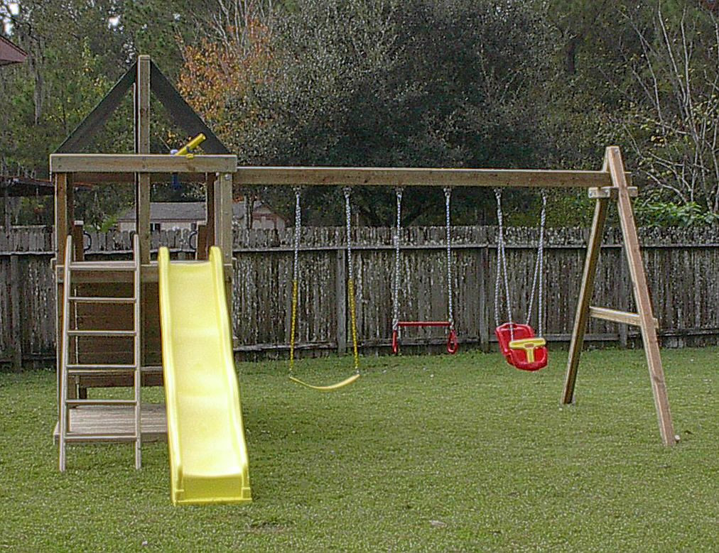 Do It Yourself Backyard Playsets  Apollo Redwood Fort Swingset And DIY Plans Gallery