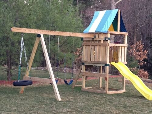Do It Yourself Backyard Playsets  New Do It Yourself Swing Set Play Ground Parts Kit for