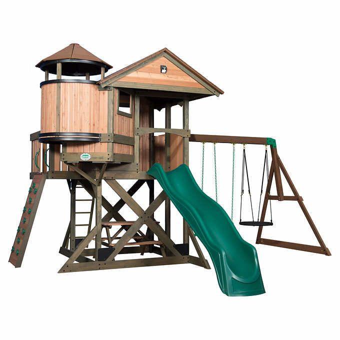 Do It Yourself Backyard Playsets  Backyard Discovery Eagle s Nest Elite Playset Do It