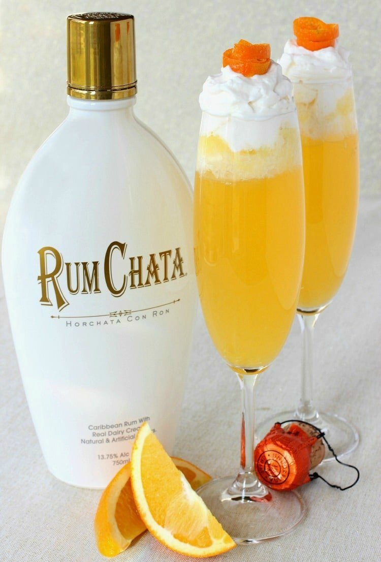 Drinks To Make With Rum Chata  RumChata Creamsicle Champagne Mantitlement
