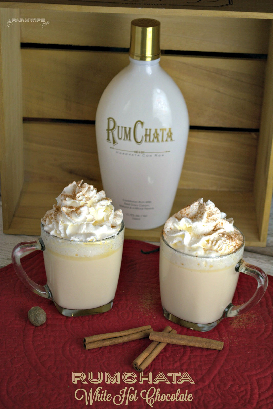 Drinks To Make With Rum Chata  Crock Pot RumChata White Hot Chocolate The Farmwife Drinks