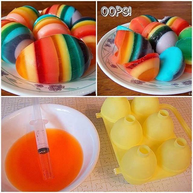 Easter Jello Desserts  Rainbow Jello Easter Eggs AllDayChic