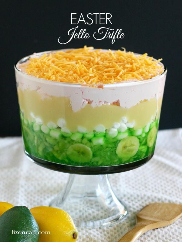 Easter Jello Desserts  Tasty Tuesday Easter Jello Trifle Liz on Call