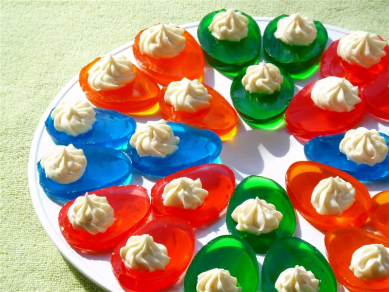 Easter Jello Desserts  ButterYum Jello Easter Eggs with Vanilla Filling