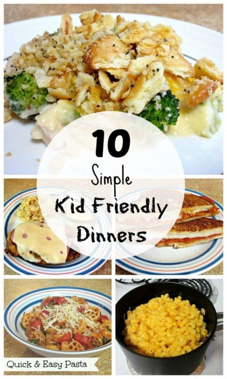 Easy Healthy Dinner Recipes Kid Friendly  10 Simple Kid Friendly Dinners