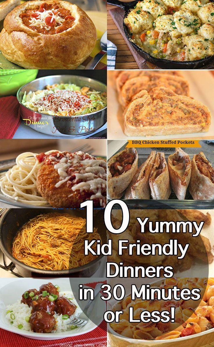 Easy Healthy Dinner Recipes Kid Friendly  Best 30 Minute Dinner Recipes Easy Midweek Meals
