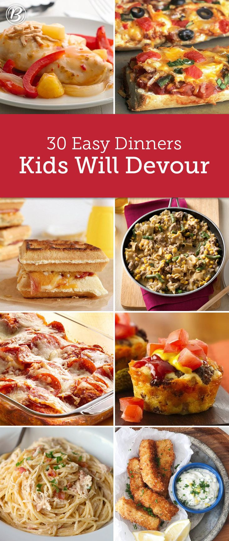 Easy Healthy Dinner Recipes Kid Friendly  Kids' Most Requested Dinners