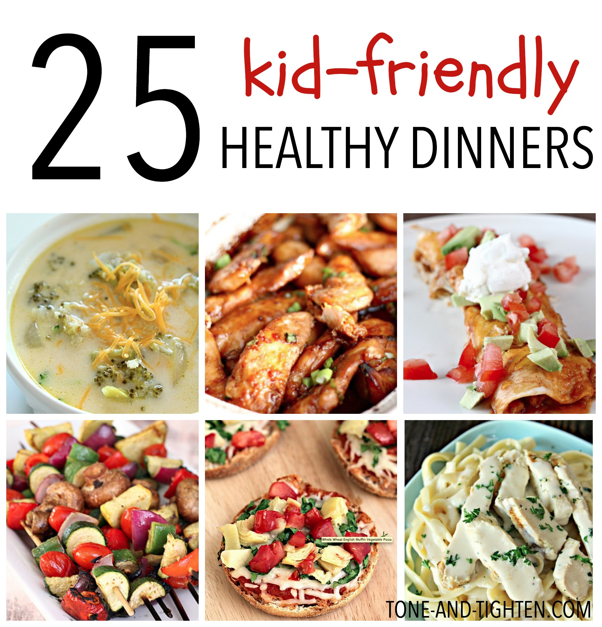 Easy Healthy Dinner Recipes Kid Friendly  25 Kid Friendly Healthy Dinners